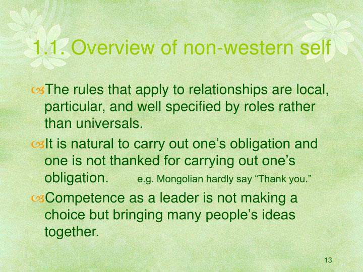 1.1. Overview of non-western self