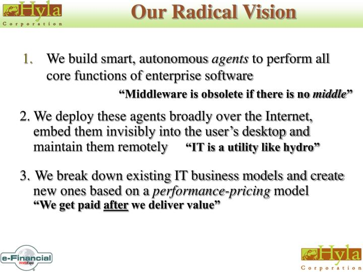 Our Radical Vision