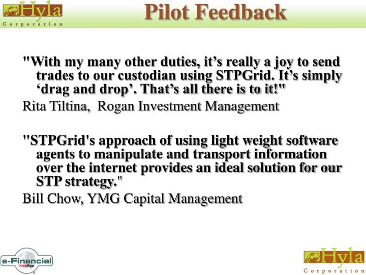 Pilot Feedback