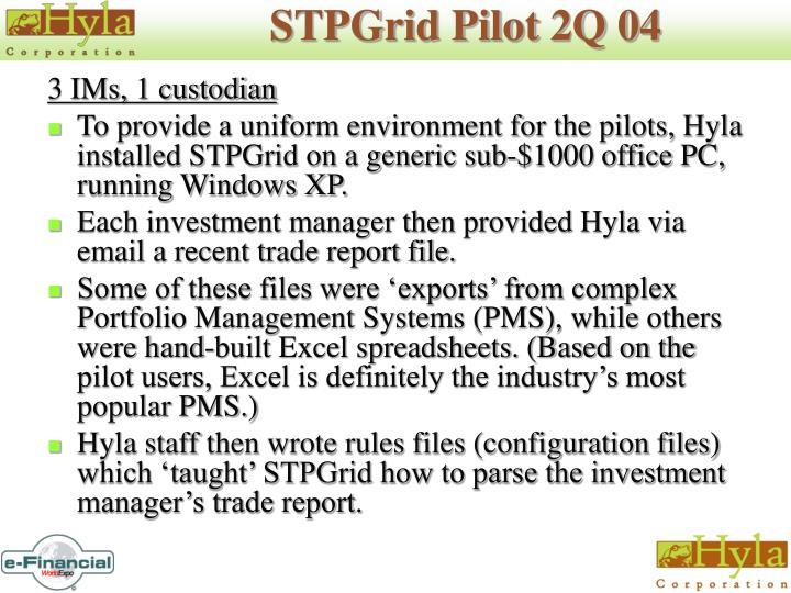 STPGrid Pilot 2Q 04