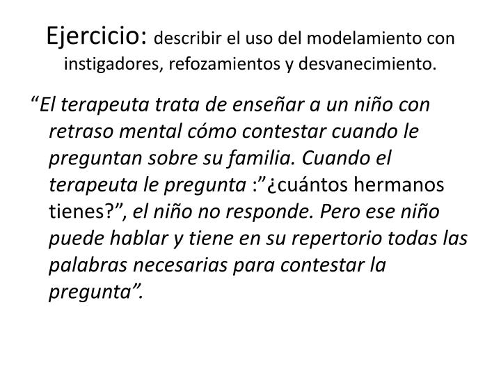 Ejercicio: