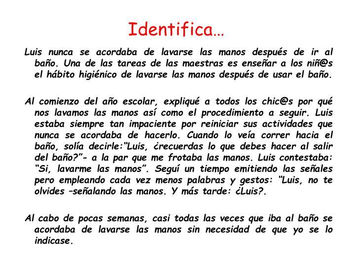 Identifica…