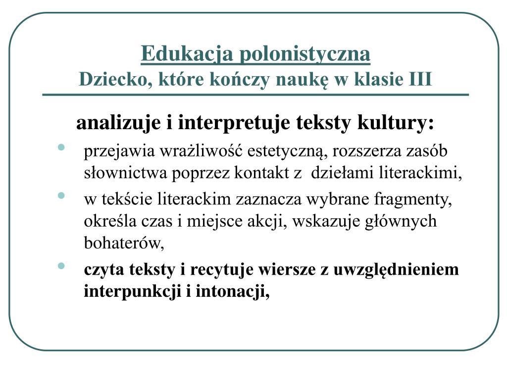 Ppt Sześciolatek W I Klasie Realizacja Nowej Podstawy