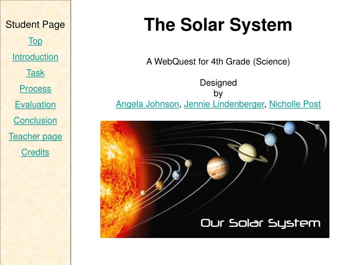 conclusion of solar system