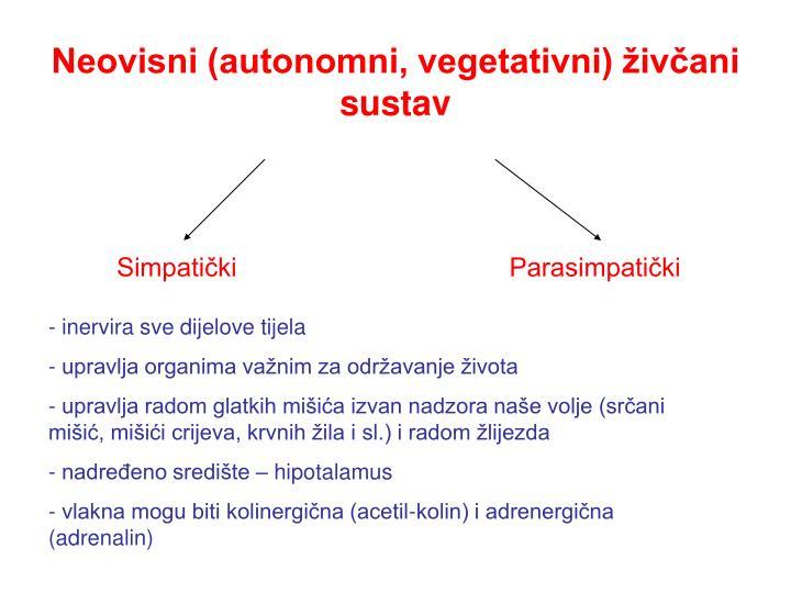 Neovisni (autonomni, vegetativni) živčani sustav