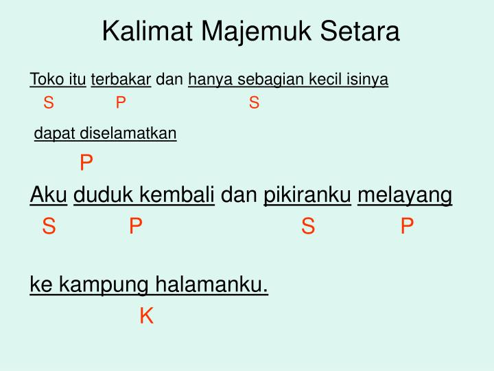Ppt 1 Kalimat Powerpoint Presentation Id 6146059