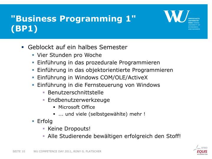 """Business Programming 1"""