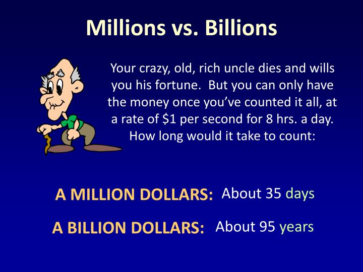 Millions vs. Billions