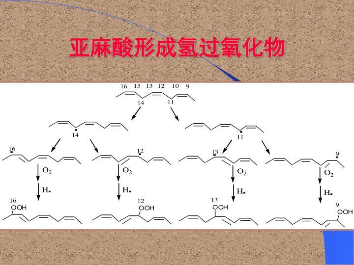 亚麻酸形成氢过氧化物