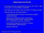 datennahme bei atlas