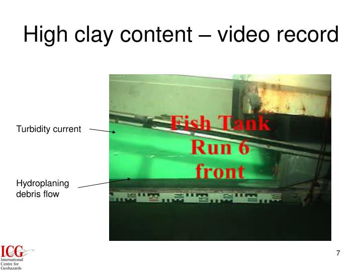 High clay content – video record