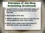 principles of job shop scheduling continued