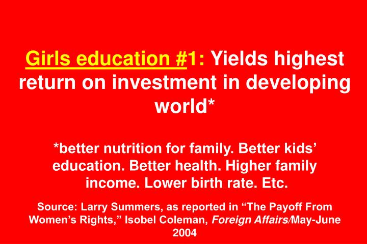 Girls education #