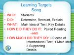 learning targets song1