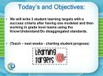 today s and objectives