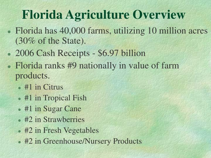 Florida agriculture overview