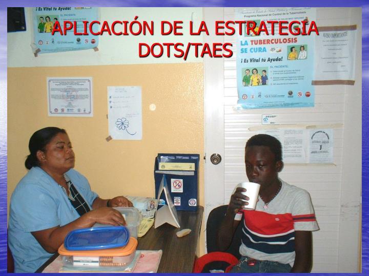 APLICACIÓN DE LA ESTRATEGIA DOTS/TAES