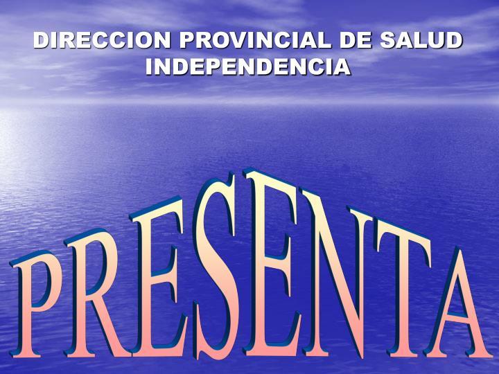 Direccion provincial de salud independencia