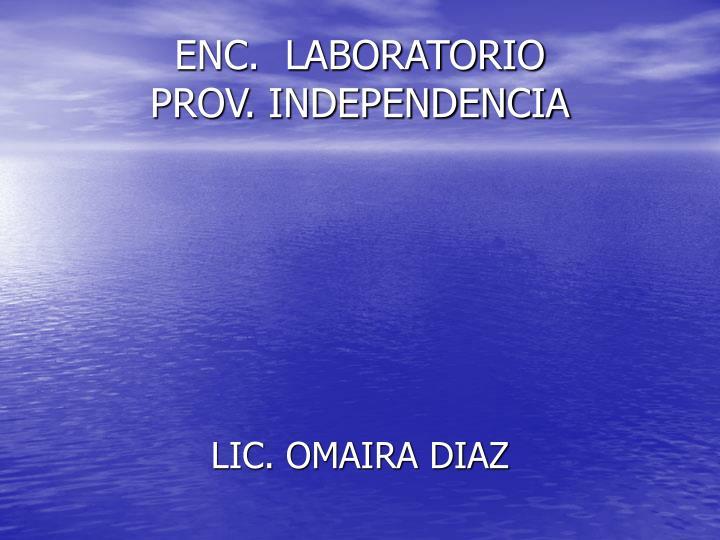 ENC.  LABORATORIO