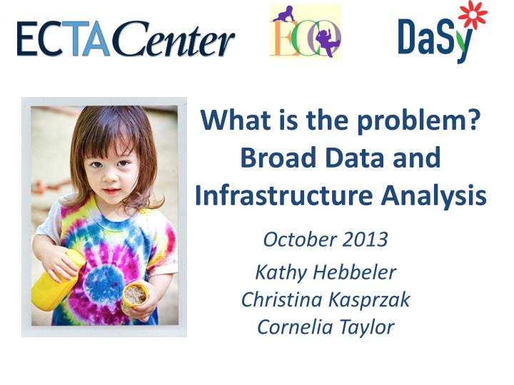 what is the problem broad data and infrastructure analysis n.