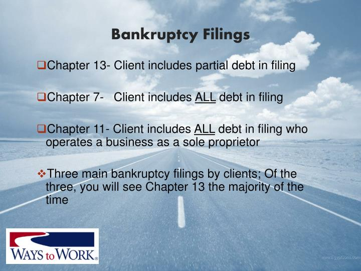 Bankruptcy Filings