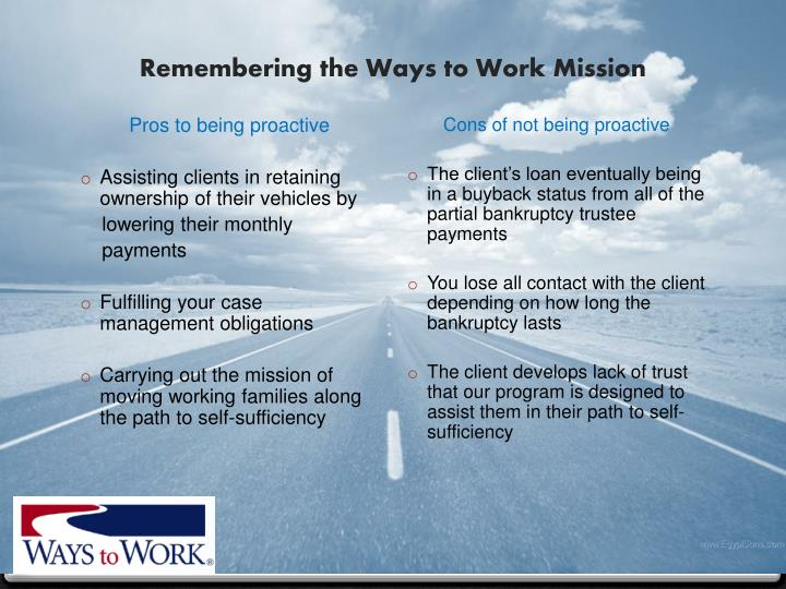 Remembering the Ways to Work Mission