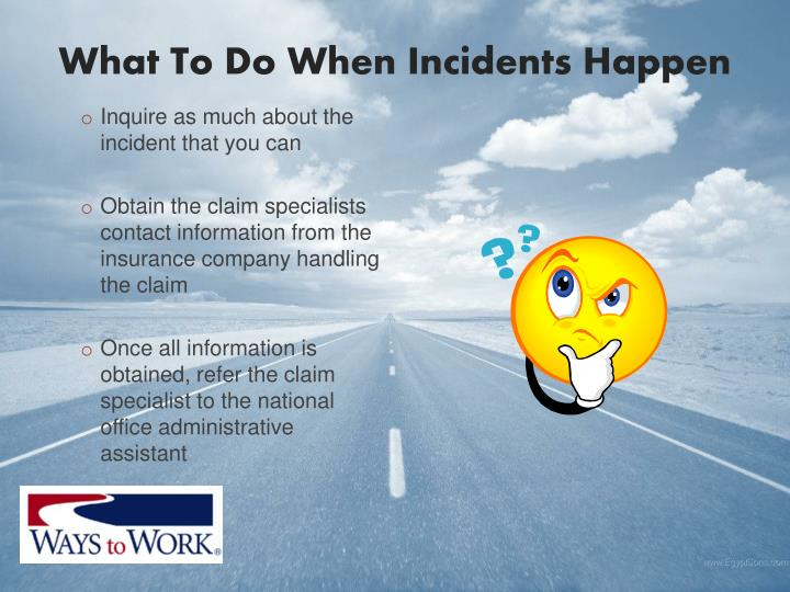 What To Do When Incidents Happen