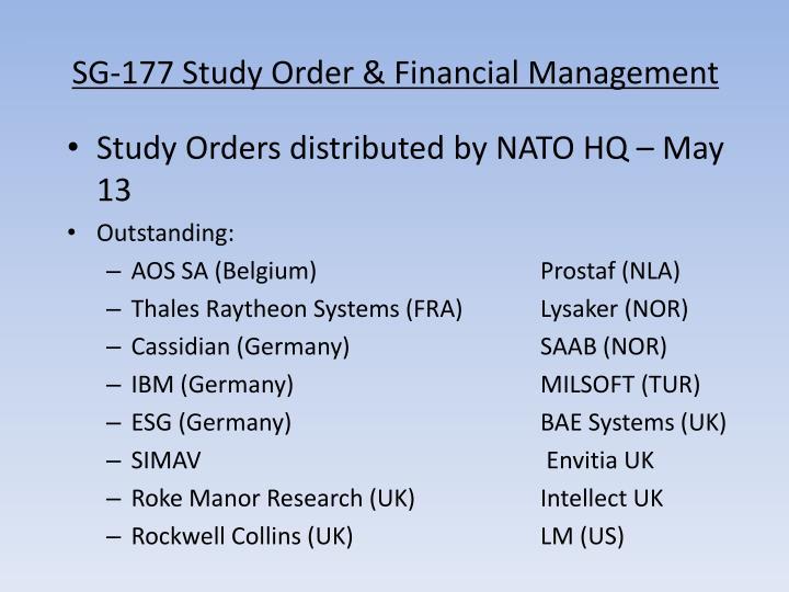 Sg 177 study order financial management