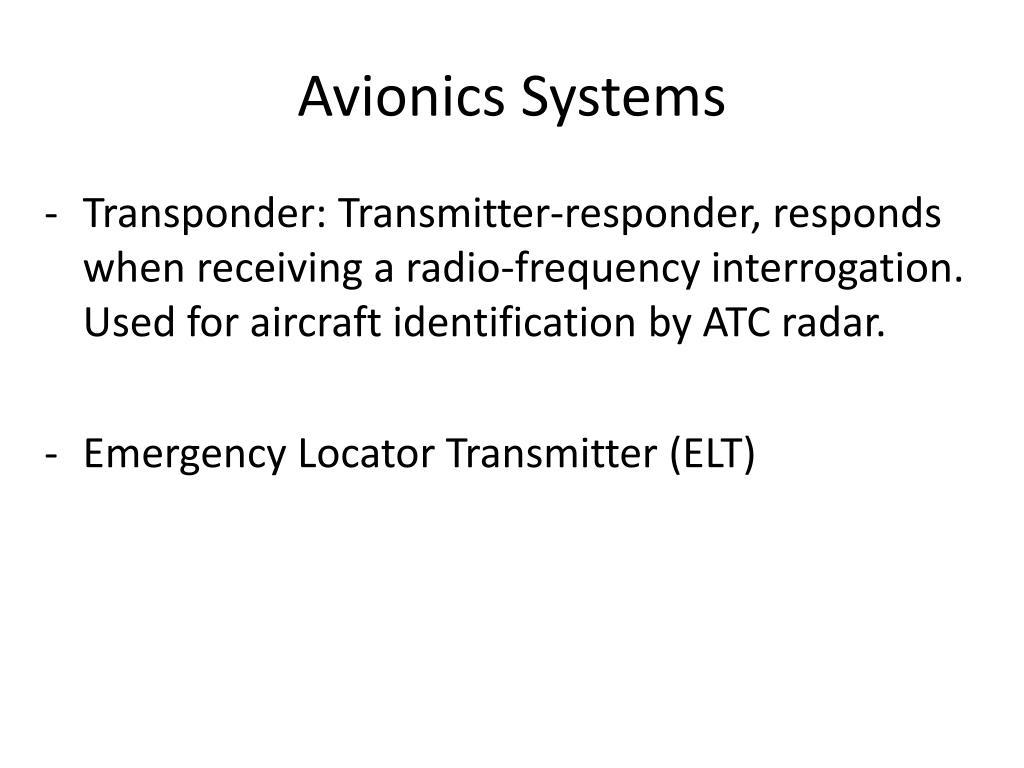 PPT - Aircraft Avionics PowerPoint Presentation - ID:6147113