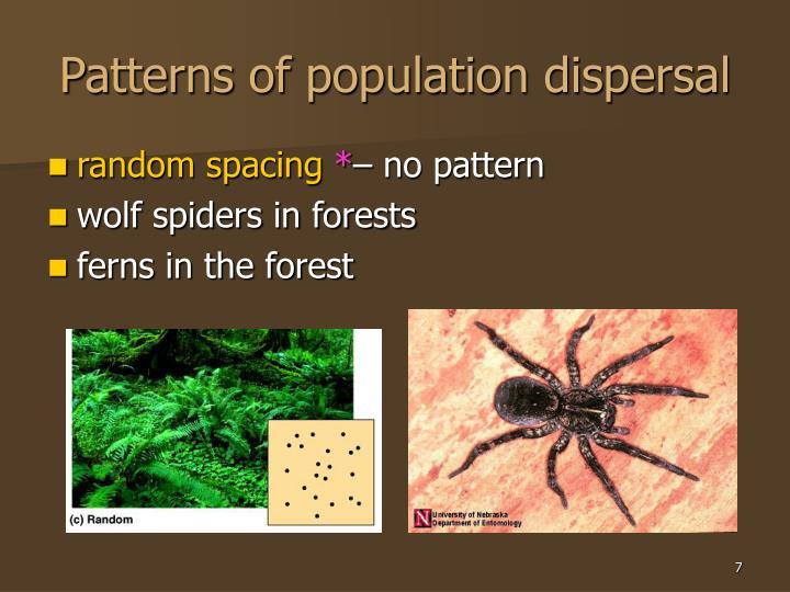 Patterns of population dispersal