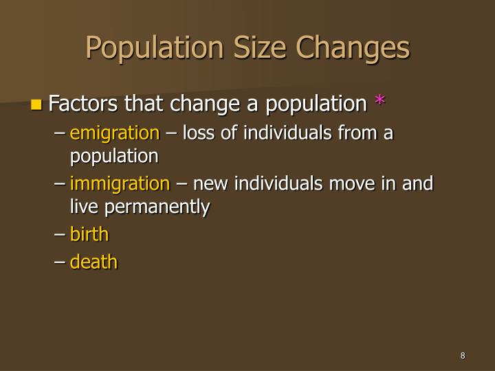 Population Size Changes