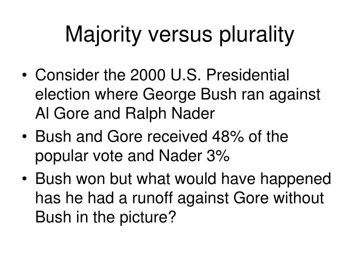 Majority versus plurality
