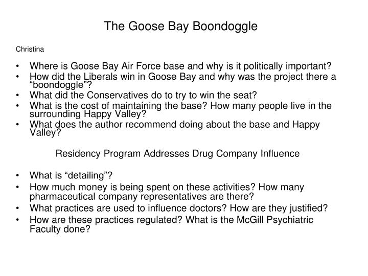The Goose Bay Boondoggle