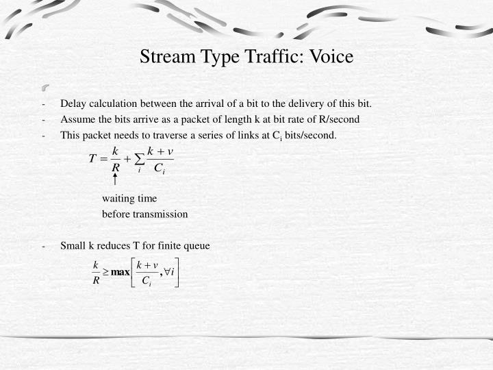 Stream Type Traffic: Voice