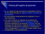 historia del registro de pacientes7