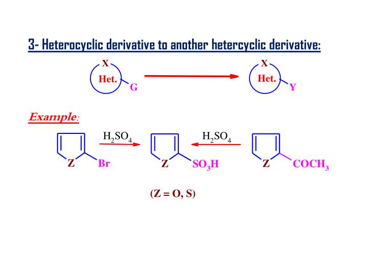 3- Heterocyclic derivative to another hetercyclic derivative: