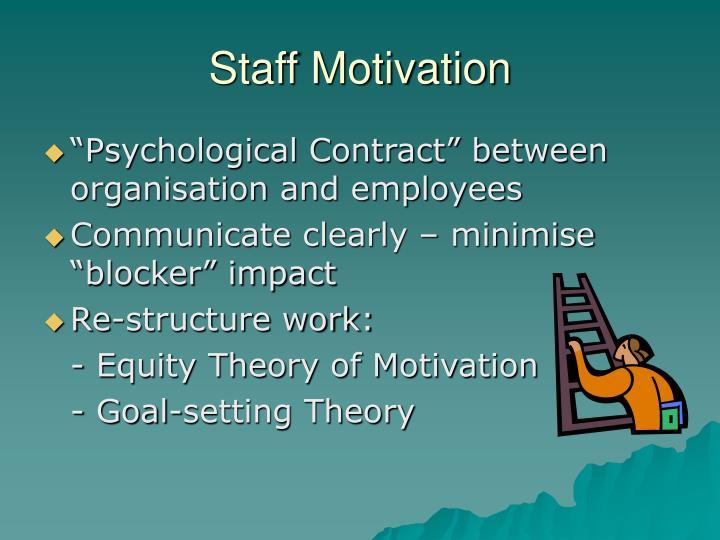 Staff Motivation
