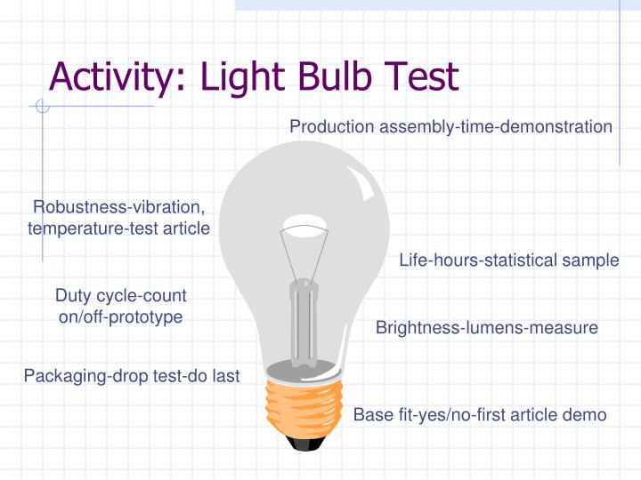 Activity: Light Bulb Test