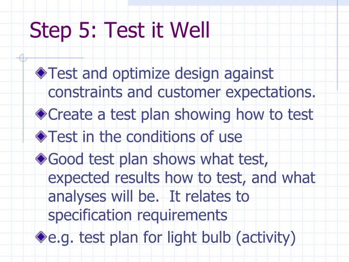 Step 5: Test it Well