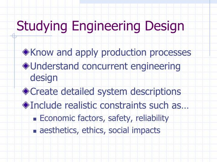 Studying Engineering Design