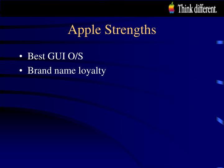 Apple Strengths