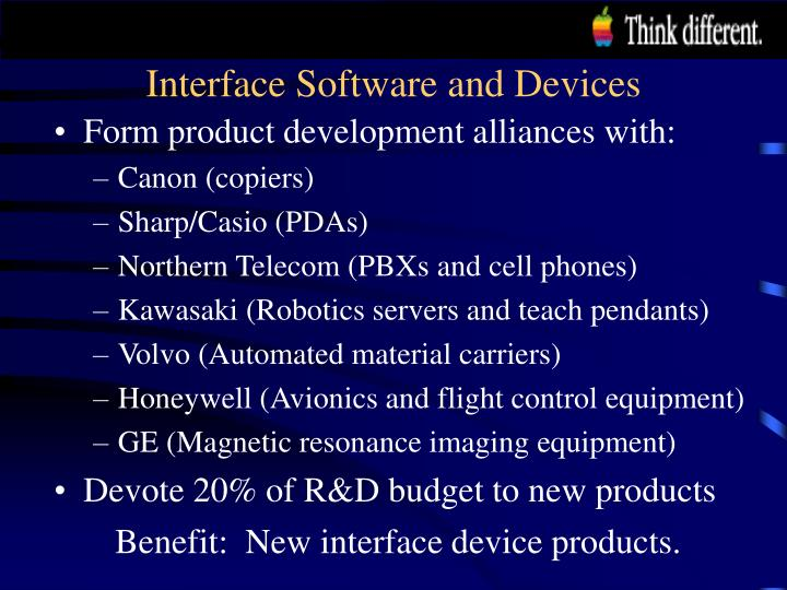 Interface Software and Devices