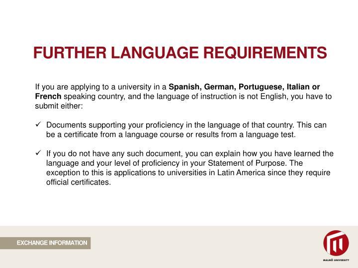 FURTHER LANGUAGE