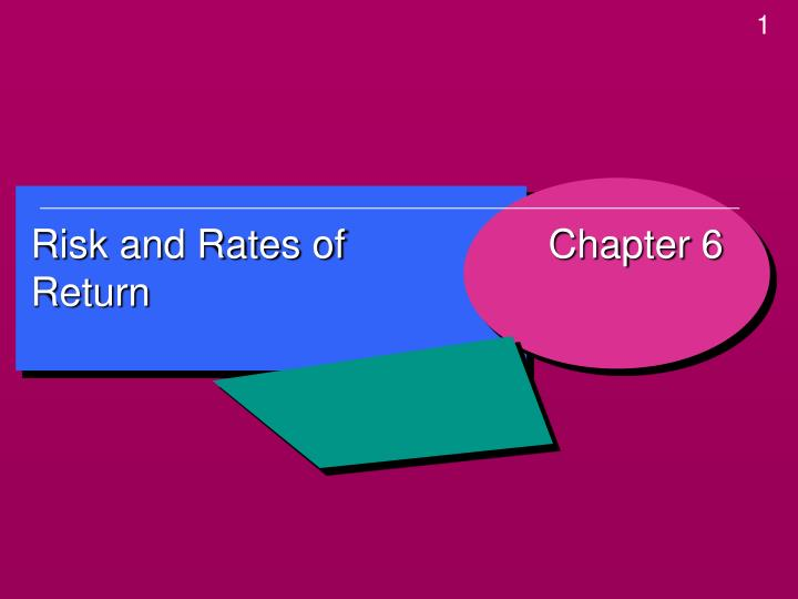 PPT Risk And Rates Of Return PowerPoint Presentation ID