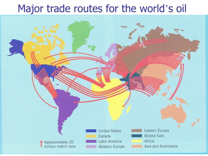 Major trade routes for the world