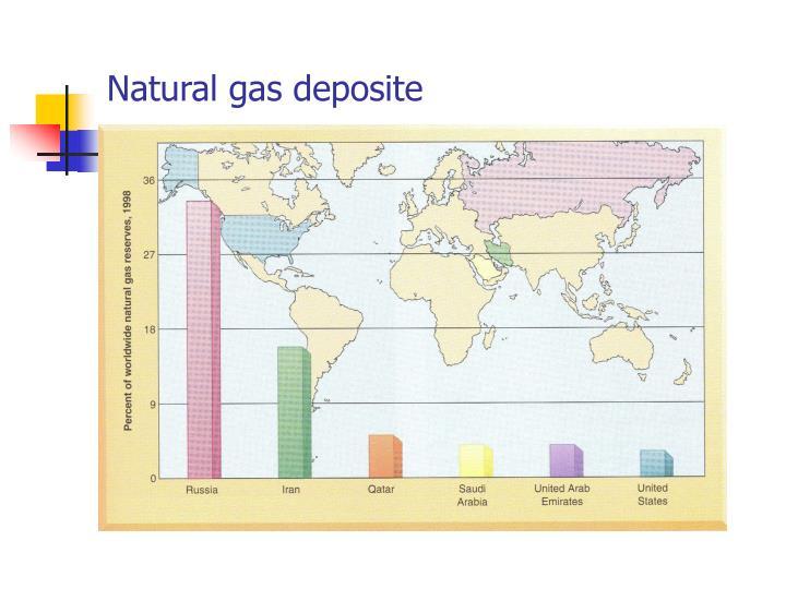 Natural gas deposite