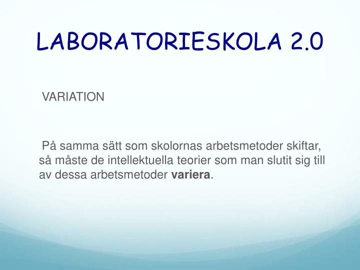 LABORATORIESKOLA 2.0