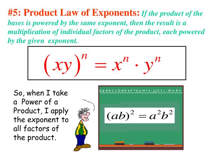 #5: Product Law of Exponents: