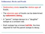 sedimentary rocks and fossils