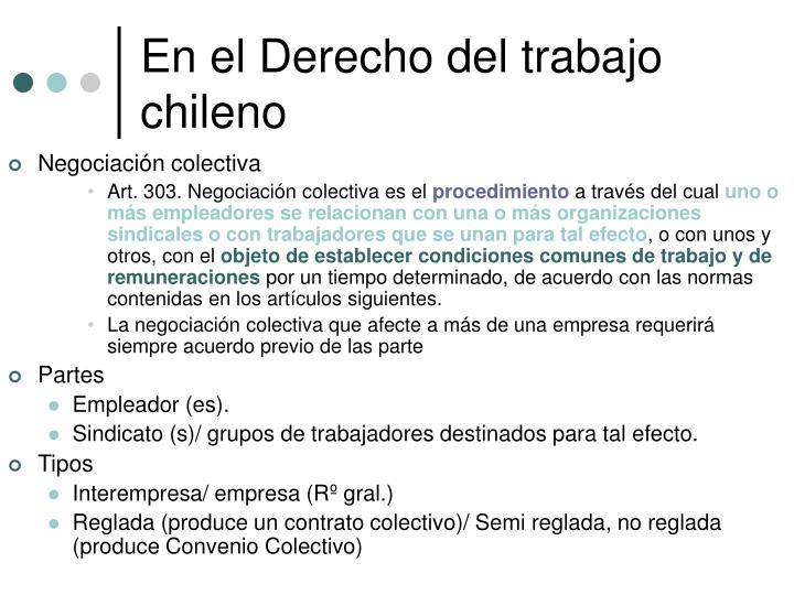 En el Derecho del trabajo chileno